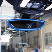 专用于保时捷macan改装Panamera 卡宴 室内后视镜框 装饰贴