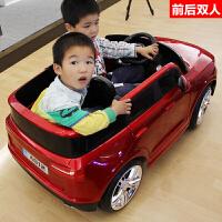 双座双人儿童电动车四轮汽车遥控1-3童车4-5岁宝宝玩具车可坐两人 红色 双驱摇摆