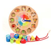 儿童时钟串珠穿线创意早教益智男孩女宝宝穿绳智力玩具1-2-3周岁 举报
