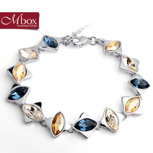 新年礼物Mbox手链 女韩国版采用施华洛世奇元素水晶情侣闺蜜手链 冰雪奇缘