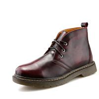 秋冬英伦范马丁靴中邦硬汉工装靴擦色仿古休闲皮鞋男士沙漠短皮靴