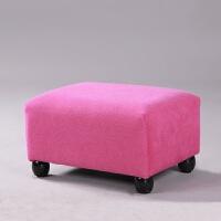 脚凳矮凳布艺沙发凳小板凳小凳子脚踏小方凳茶几凳软美甲凳