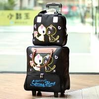 短途拉杆包旅行包女轻便可爱大容量手提拉包韩版防水行李拉杆箱包