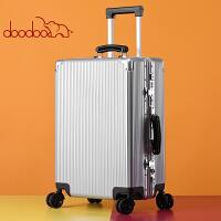 【支持礼品卡】doodoo行李箱女韩版小清新密码箱子20寸24大学生铝框万向轮拉杆箱D8999