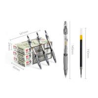 晨光文具中性笔0.5mm按动水笔学习GP1008签字笔黑色水笔