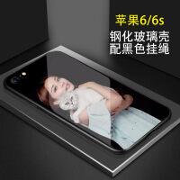 iphone6手机壳定制苹果6Splus玻璃壳照片定做个性创意6s制定女款iPhone6splus玻 iPhone6/