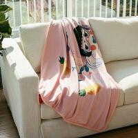 毛毯被子办公室沙发卧室午睡双层加厚保暖空调毯盖毯小毯子秋冬季