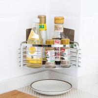 不锈钢置物架厨房储物架子浴室墙上挂架卫生间多功能免打孔收纳架
