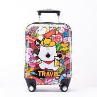 儿童拉杆箱17寸小黄人行李箱拉杆书包男女卡通旅行箱拖箱 17寸拉杆箱