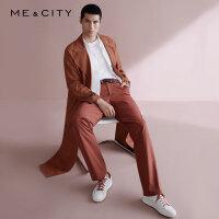 【全场2件2.5折,到手价:67.3】MECITY男装冬季口袋分割细节梭织长裤韩版潮流