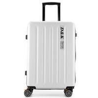 超轻便超耐用带刹车万向轮防刮拉链拉杆箱旅行箱行李箱硬箱皮箱 白色 28寸