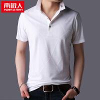 2018新款t恤男士短袖翻领体恤夏季男装有领衬衫领Polo衫男T