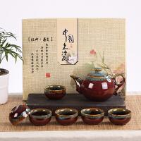 整套功夫茶具套装陶瓷白瓷礼品茶杯茶壶企业批发采购公司定制LOGO