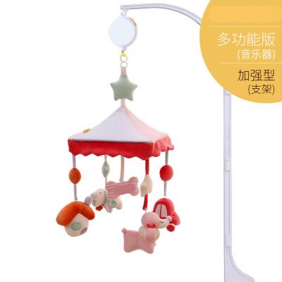 ?婴儿玩具音乐旋转床铃狗年宝宝摇铃毛绒布艺床挂铃床头铃?