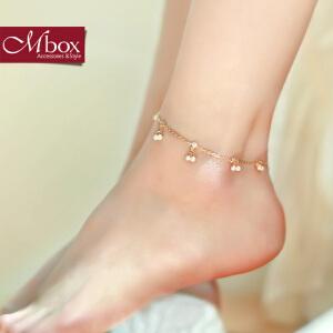 新年礼物Mbox脚链 女韩国版简约小清新设计时尚玫瑰金贝珍珠脚链 雨露星辰