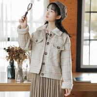 复古毛呢外套秋季女装2018新款韩版学生百搭学院风小香风夹克