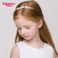 女童头箍头饰头链女孩礼服配饰儿童蝴蝶结发箍发夹发饰皇冠