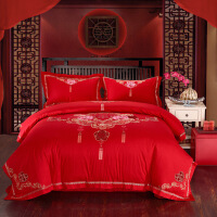 床上六件套新婚婚庆大结婚床上用品六件套床单被套新婚床品套