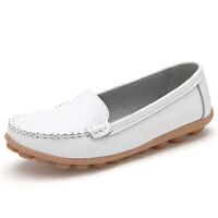 秋冬平底小白鞋女妈妈大码女鞋豆豆鞋女护士鞋休闲孕妇单鞋