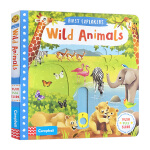 小小探索家系列 野生动物 英文原版绘本 First Explorers Wild Animals SETM科普机关操作