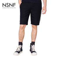 NSNF撞色边男士短裤休闲裤 短裤男2017新款 潮牌男裤