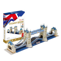 手工制作儿童立体拼图3D纸模型拼装模型精装伦敦双子桥