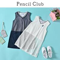 【3折价:33】铅笔俱乐部童装2020夏装新款女童V领背心中大童长T恤儿童无袖T恤