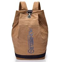 帆布背包双肩包男士休闲书包简约轻便时尚潮流个性旅游运动篮球包