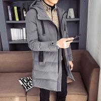 新款男士棉衣外套连帽加厚中长款韩版潮流学生休闲羽绒服冬季