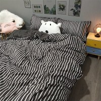 床品单人三件套学生宿舍床上三件套黑色ins风三件套网红床单