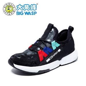 大黄蜂儿童鞋 男童运动鞋 2018新款春秋季运动韩版学生脚蹬软底潮
