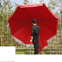 户外大号遮阳伞大型摆摊圆伞太阳伞沙滩伞折叠雨伞定制广告伞3米