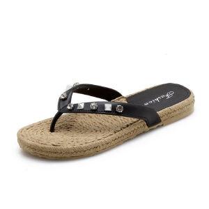 ELEISE美国艾蕾莎新品113-T1622韩版塑料平跟水钻女士凉拖鞋