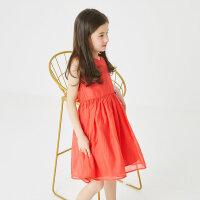 【1件3折到手价:65.7】米喜迪mecity童装夏装新款女童仙女连衣裙洋气公主裙周岁礼服