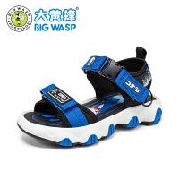 大黄蜂童鞋男童凉鞋中童露趾软底潮流2021夏季新款儿童韩版沙滩鞋