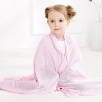 婴儿冰丝毯子儿童夏凉被婴儿抱被宝宝竹丝毯空调盖毯竹纤维 100*120
