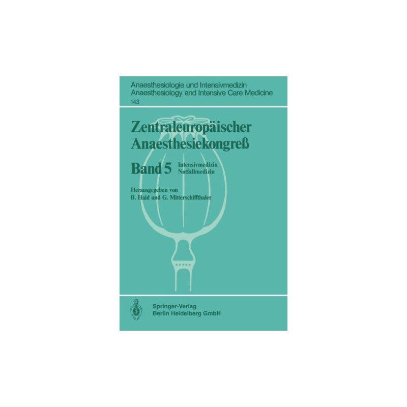【预订】Zentraleuropaischer Anaesthesiekongress: Intensivmedizin No... 9783540109464 美国库房发货,通常付款后3-5周到货!