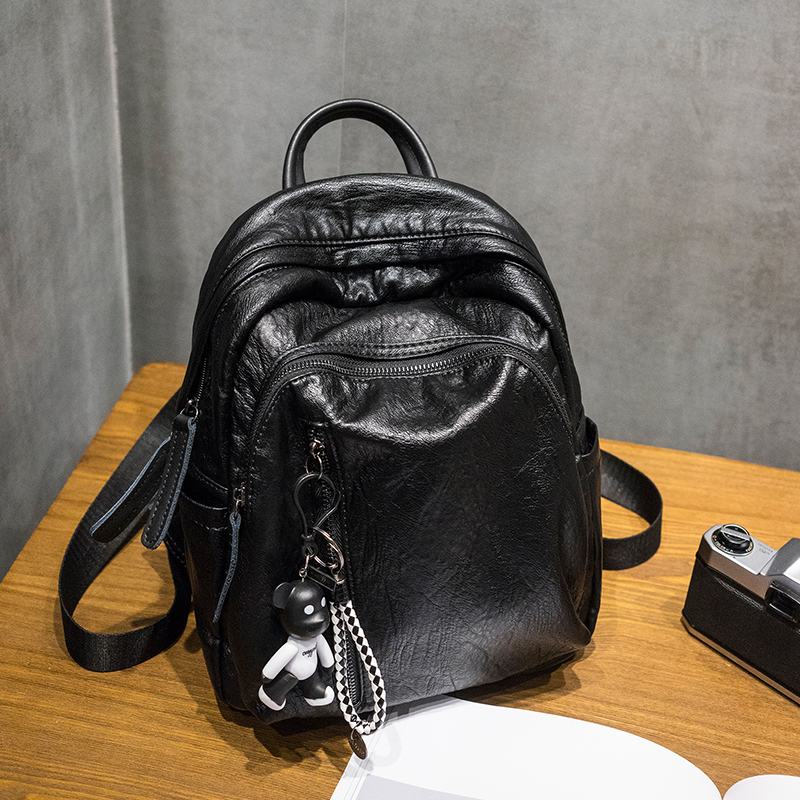 双肩包女软皮韩版配潮流时尚妈咪包简约女士背包 发货周期:一般在付款后2-90天左右发货,具体发货时间请以与客服协商的时间为准