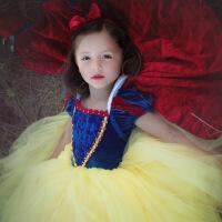 万圣节儿童服装女童礼服白雪公主裙迪士尼演出服女孩模特走秀礼服 白雪公主裙(小披风+袖套+发箍)