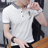 男士t恤短袖夏季青年POLO衫韩版潮流翻领夏天衣服男装衬衫领半袖