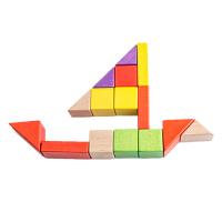 50粒大块积木玩具木制堆搭玩具儿童益智宝宝0-1-2周岁