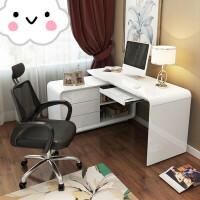 简约现代台式电脑桌 家用写字台 办公桌卧室电脑桌书桌书架组合