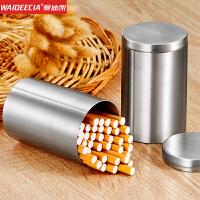 烟罐 304不锈钢车载烟灰缸密封罐烟盒大容量烟盒50支装茶叶罐储物 304不锈钢 / 食品级材质 / 不生锈
