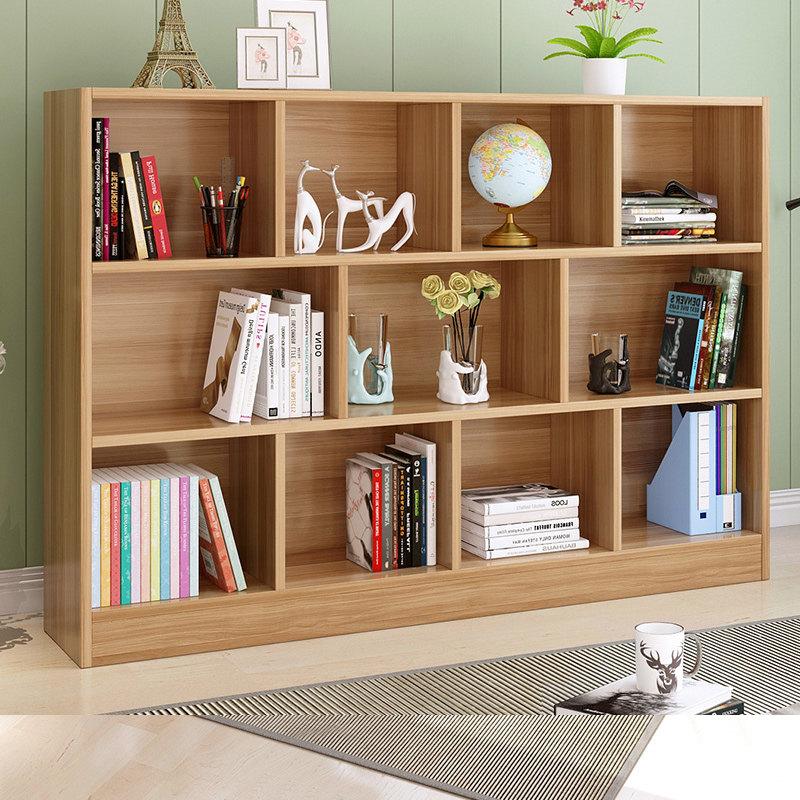 简约现代创意书架书柜自由组合学生简易书橱客厅置物落地儿童柜子o5z 大容量储物书柜