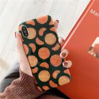 贝壳纹苹果iphonexmax/xr6s7plus手机壳ins风橘子硅胶软壳8p女款 6/6s 4.7 贝壳 橘子