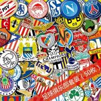 足球俱乐部贴纸行李箱贴皇马巴萨曼联欧冠队徽旅行箱装饰贴画防水