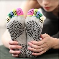 夏季专业练功软底防滑脚趾五指健身袜女训练棉袜舞蹈露背露趾袜