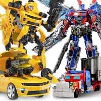 �形金��玩具5大�S蜂擎天柱汽�超大�C器人手�k模型男孩�和�正版4