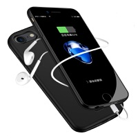2018新款 iphone7背夹式充电宝苹果6S电池plus86P手机壳一体移动电源 6P/6SP/7P/8P 深空灰