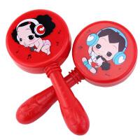 新生儿初生婴儿护智训练视力红色球儿童乐器沙锤宝宝玩具多色抖音 冬己沙锤2只 蓝色